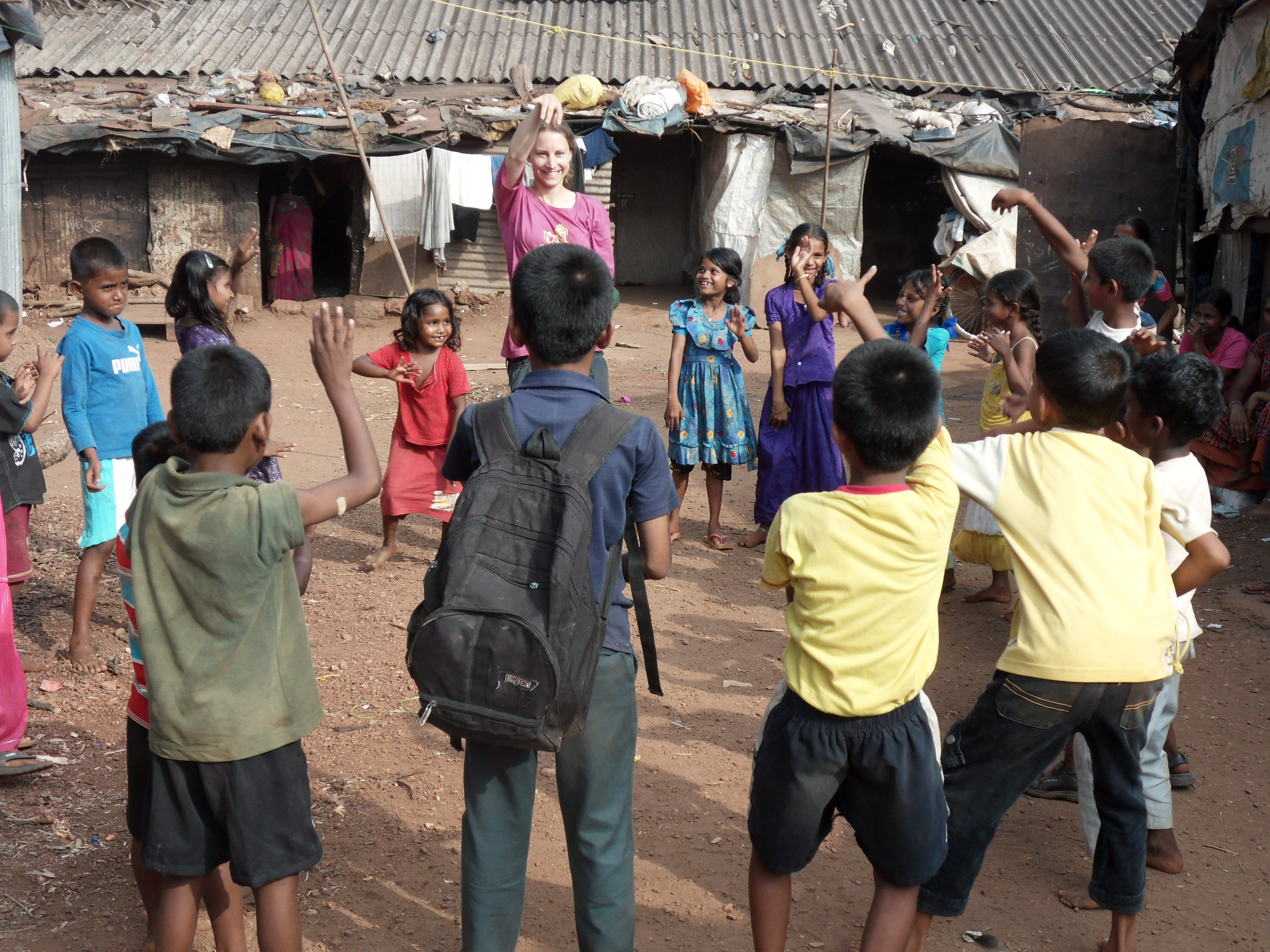 Dancing in the slum